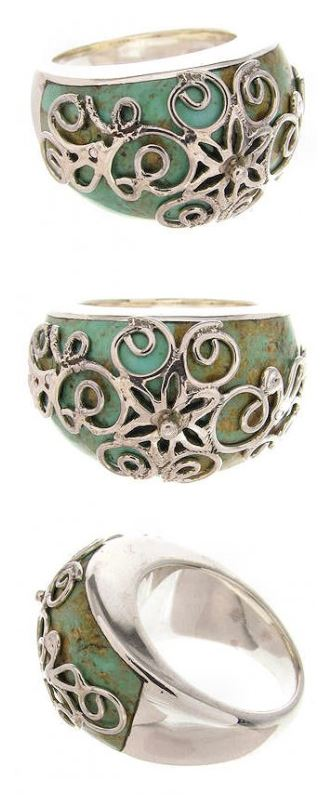 Turquoise Silver Rings Women