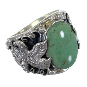 eagle-silver-turquoise-rings