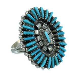 needlepoint-silver-turquoise-rings